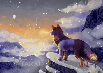 Cold Sunset by Takkaia