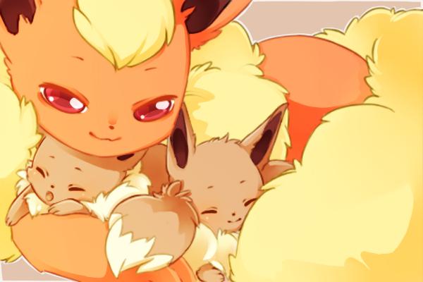 Flareon Babies by mjoyart