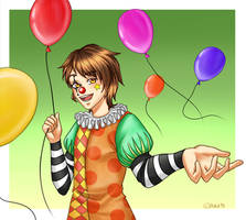 [Request] StarVagrant as a Clown by Inra98