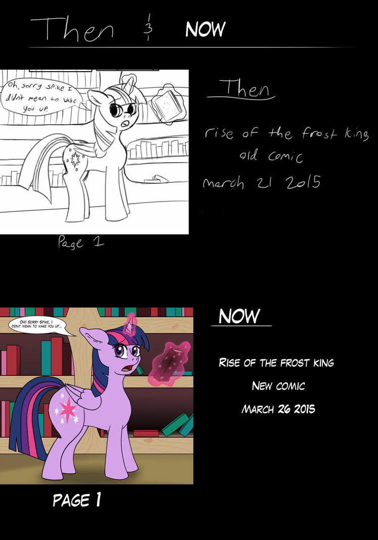 then and now by rickthewolf