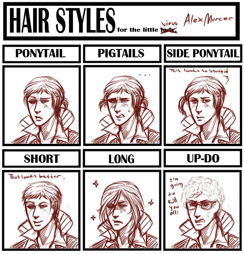 Hairstyle Meme Alex Mercer By TheLizAngel On DeviantArt - Hairstyle drawing meme