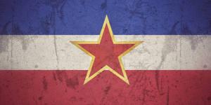 SFR Yugoslavia grunge flag
