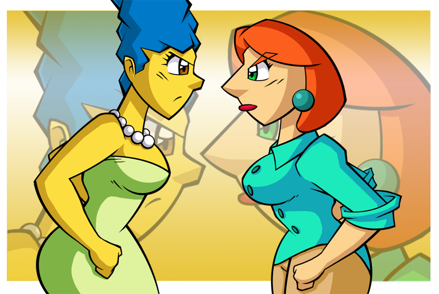Marge vs Lois by ChadRocco