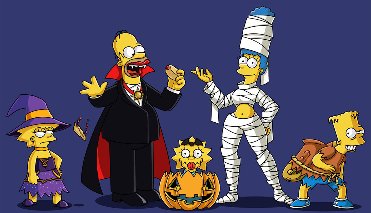 Simpsons Halloween by ChadRocco