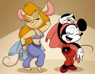 Minnie And Gadget Belly Dancer