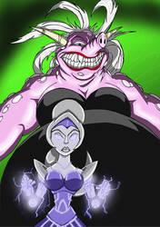 Cursed Daphne and Mecha-Kim by ChadRocco