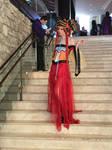 Princess Kakyuu walking down the steps by RedCard94