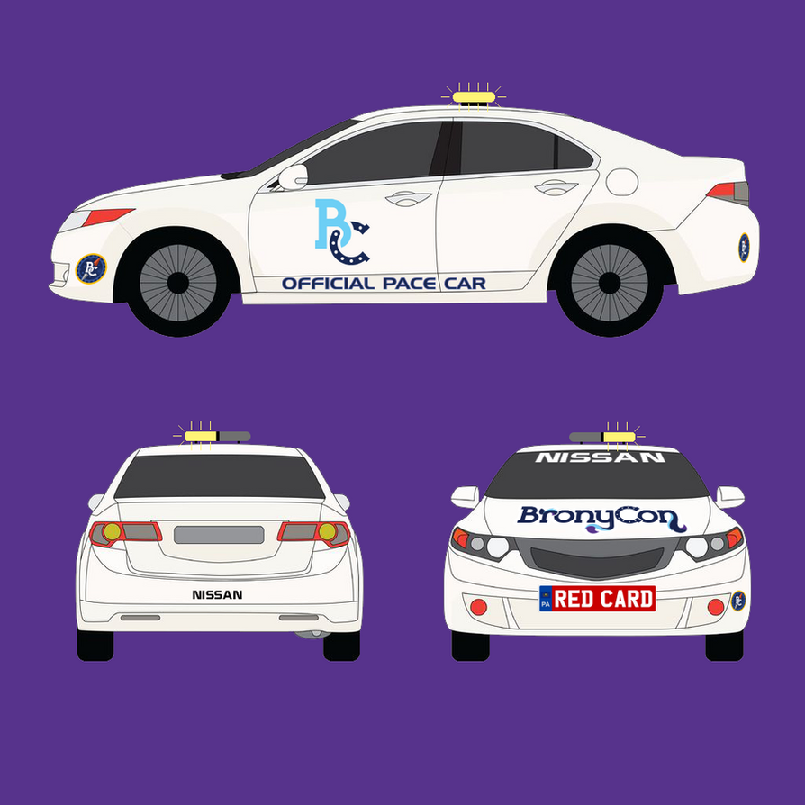 BronyCon Pace Car Decal design by RedCard94