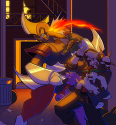 Shadowlocke: BackAlley Brawl by Oniwanbashu