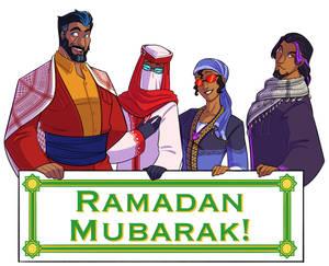 TF!Humanized: Ramadan Greetings!