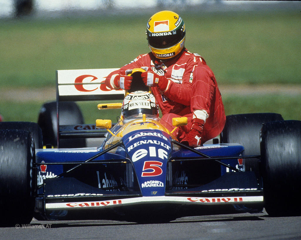 Nigel Mansell | Ayrton Senna (Great Britain 1991) by F1-history