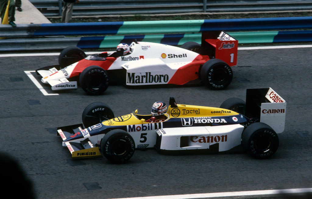 Alain Prost Nigel Mansell Portugal 1986 By F1 History
