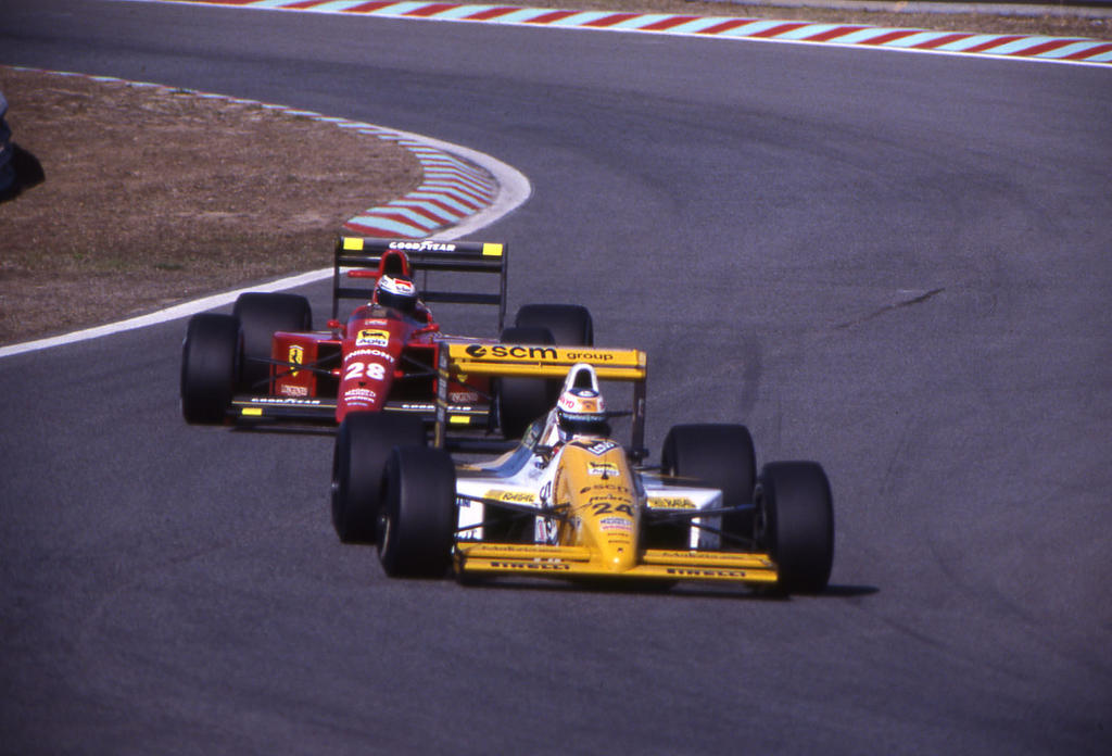 L Perez Sala G Berger Portugal 1989 By F1 History On