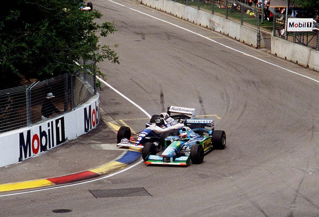 Damon Hill | Michael Schumacher (Australia 1994) by F1-history