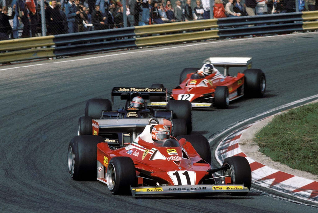 N Lauda M Andretti C Reutemann Netherlands 1977 By F1