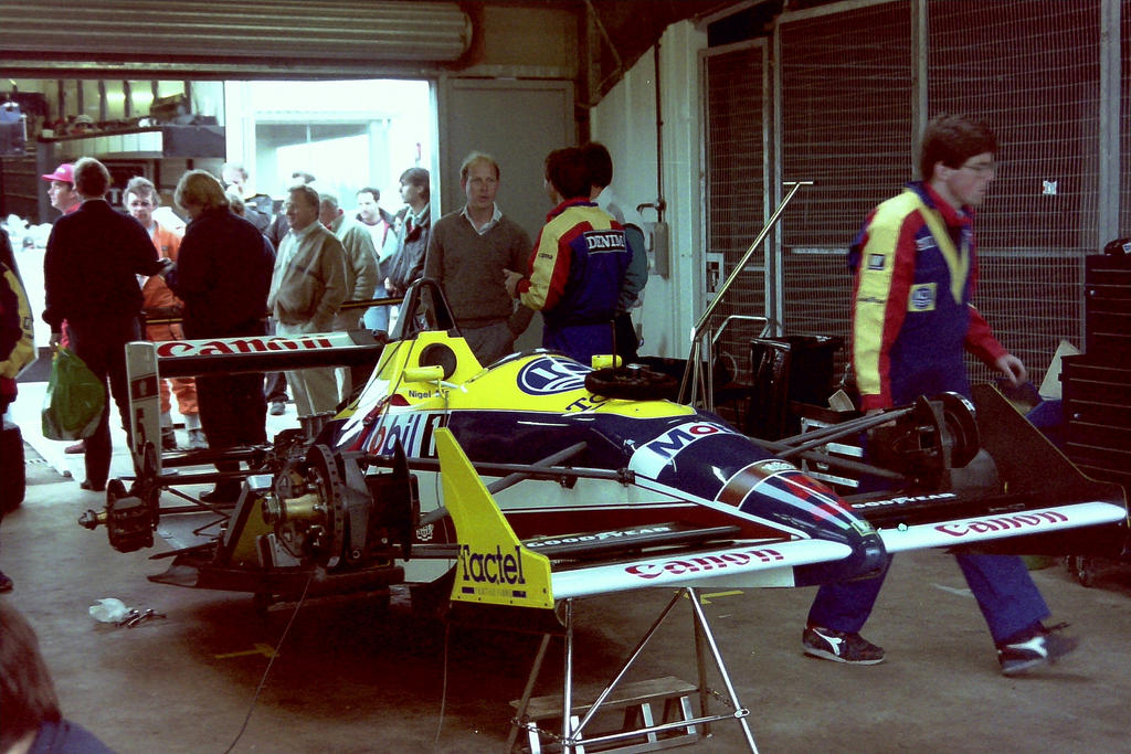 Williams FW12 (Great Britain Tyre Test 1988) by F1-history