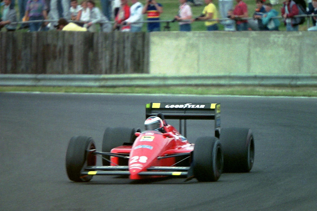 Gerhard Berger Great Britain 1987 By F1 History On
