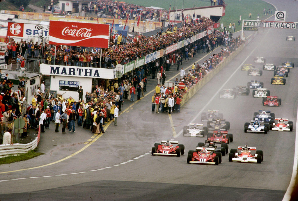 1977 Austrian Grand Prix Start by F1-history