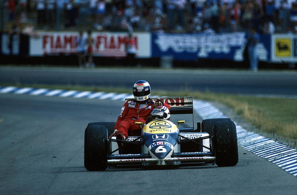 Keke Rosberg Nelson Piquet Germany 1986 By F1 History