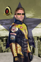 Booster Gold Poster by Rated-R4-Ryan