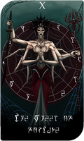 Daedra Tarot Cards - Mephala, The Wheel of Fortune