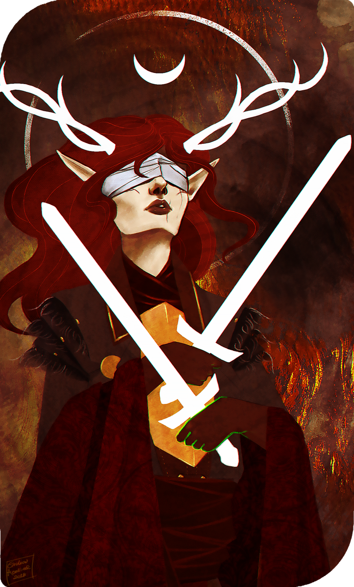 Inquisitor Lavellan - Two of Swords by AredheelMahariel