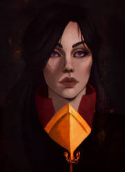 Commission - DnD Mage portrait by AredheelMahariel