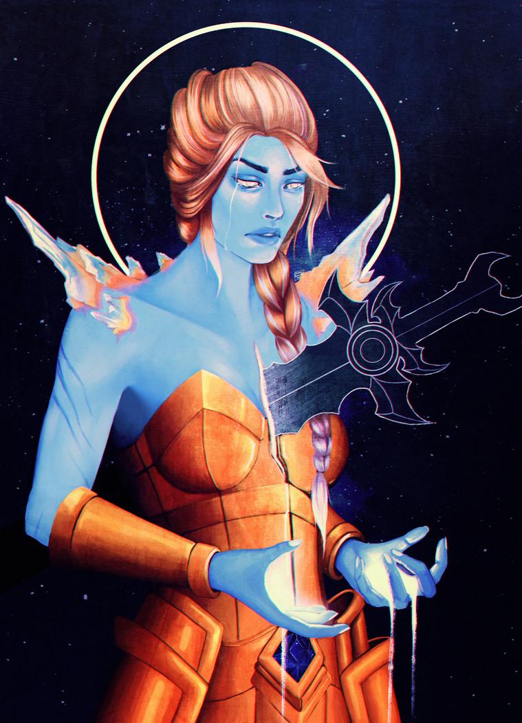 Titan Azeroth by AredheelMahariel