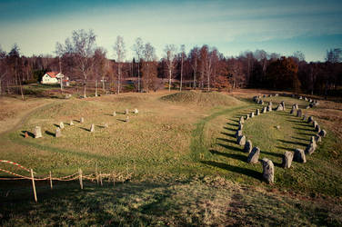 viking settlement and graves by magnusandersson
