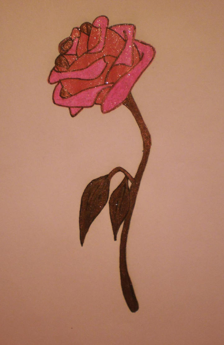 Enchanted Rose Drawing: Enchanted Rose- Beauty And The Beast Rose By
