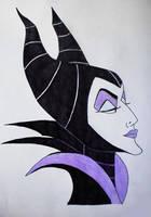 Maleficent - evil beauty by EnchantedBlueRose