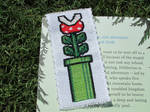Mario Piranha Pipe Cross-Stitch Bookmark