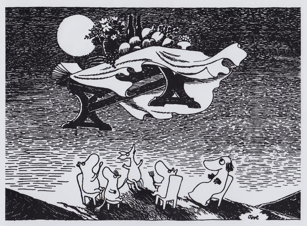 Moomin-picture-poster-24-x-30-cm-from-tove-jansson by LudovicaPolidori