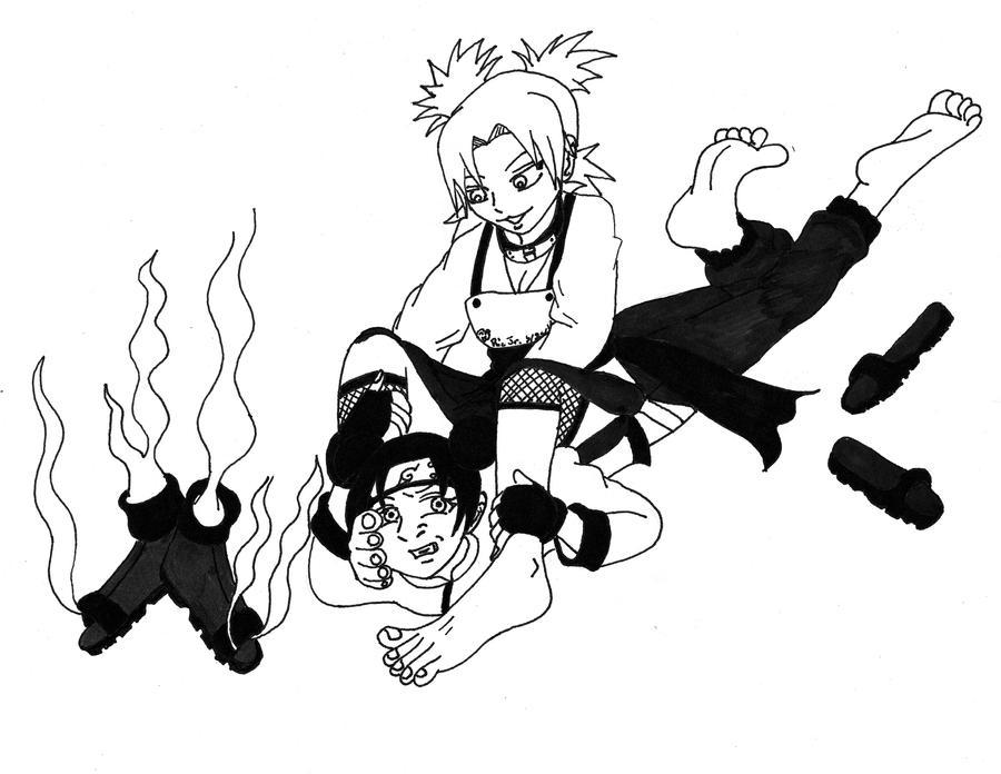 Naruto hentai temari vs ten ten