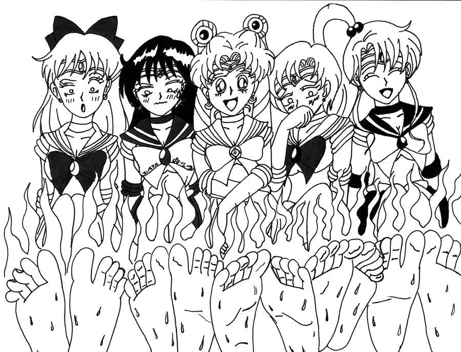Sailor Senshi Stinky Soles by Dafootclan