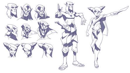 bunian army sketch
