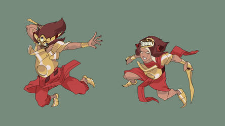 bunian army action pose