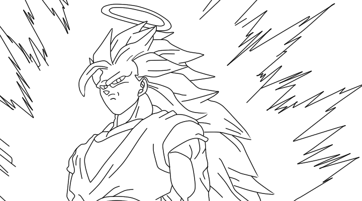 Goku Super Saiyan 3 Lineart By Sajeta2 On DeviantArt