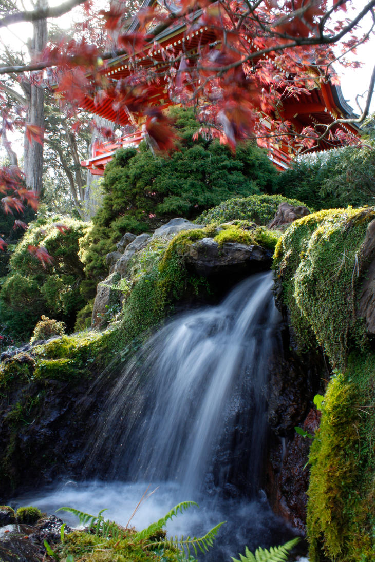 Riku4245 maryann hodgden deviantart for Zen garden waterfall