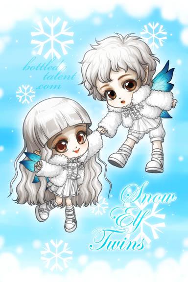 Snow Elf Twins by celesse