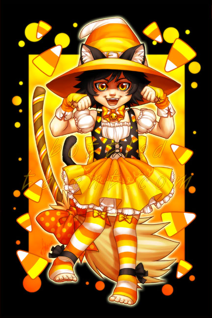 Candycorn Witch by celesse