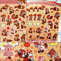 Ponwan Sticker Set