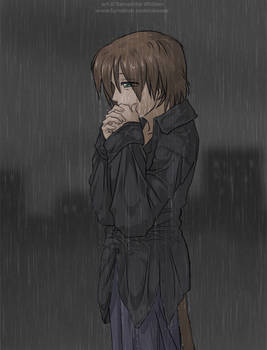 There's nothing but the rain