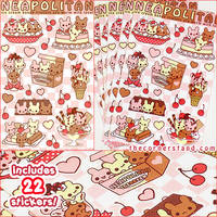 Neapolitan Sticker Set by celesse