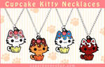Cupcake Kitty Necklaces