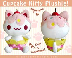 Cupcake Kitty Plush by celesse