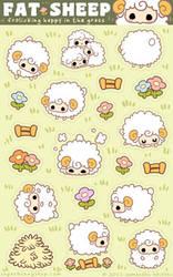 Fat Sheep Sticker Sheet