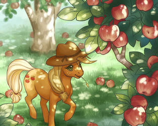 Applejack's Orchard by celesse