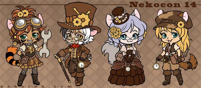 Nekocon 14 Mascots