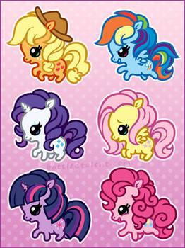 More Chibi Ponies